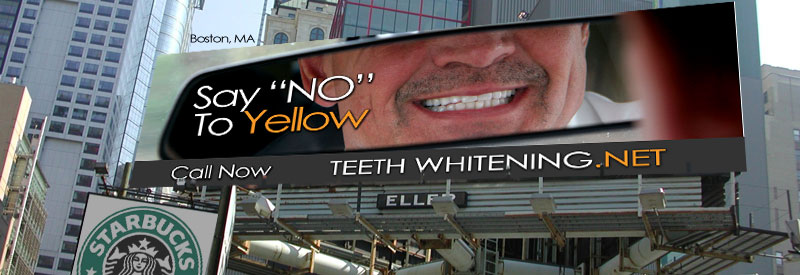 Say No To Yellow - Teeth Whitening Billboard